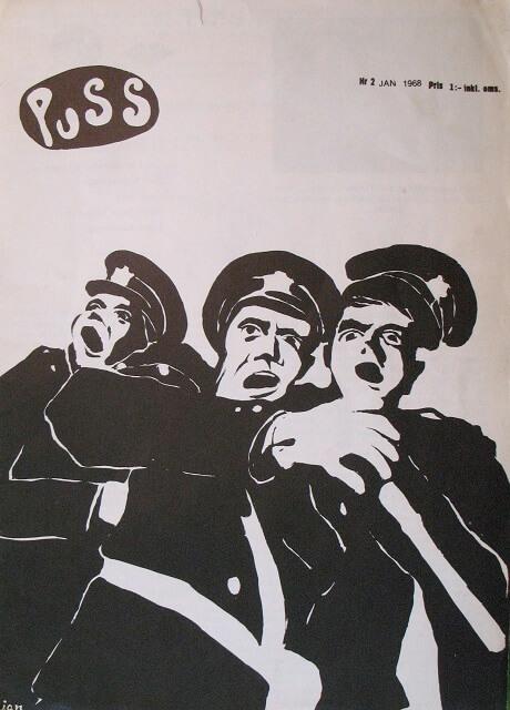 Puss nr 2, omslag av Håkan Nyberg