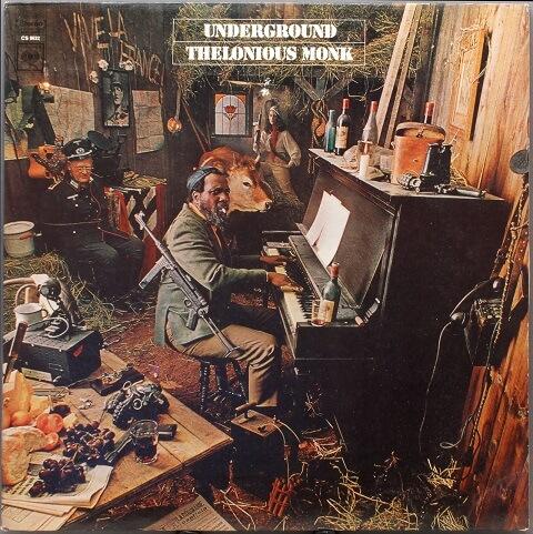 Skivomslag Thelonius Monk Underground, John Berg & Richard Mantel, 1968