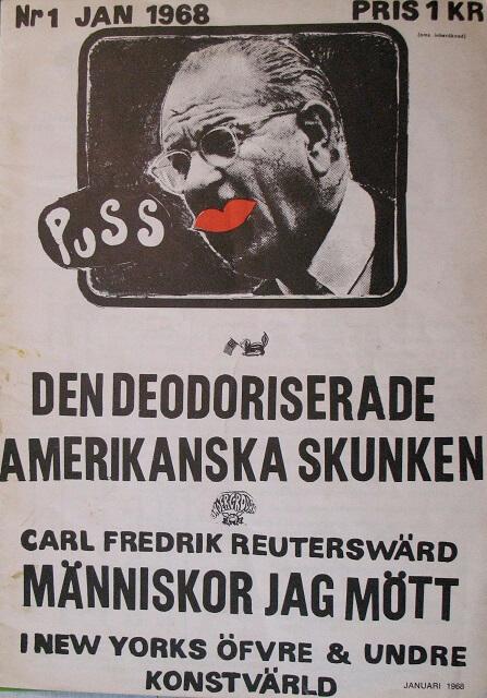 Puss nr 1, omslag av Lars Hillersberg