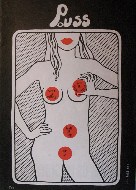 Puss nr 3, omslag av Karin Frostenson