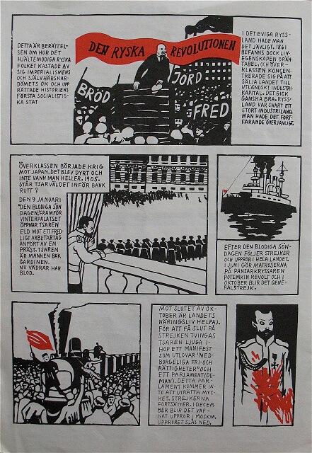 Lars Hillersbergs och Karin Frostensons serie Den ryska revolutionen gick i Puss nr 1 – 14